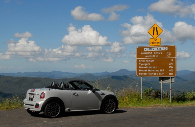 The #MINI Roadster prepares to go to the dark side - NSW.